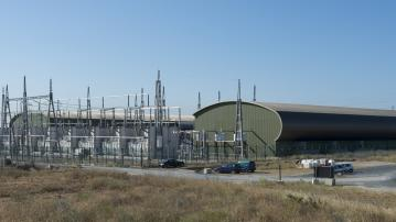 Views of the converter station